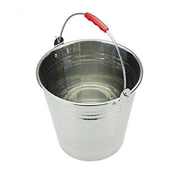 Mayuela - Cubo de Metal - Cubo para Agua, Jardín, Multiusos - 12 litros