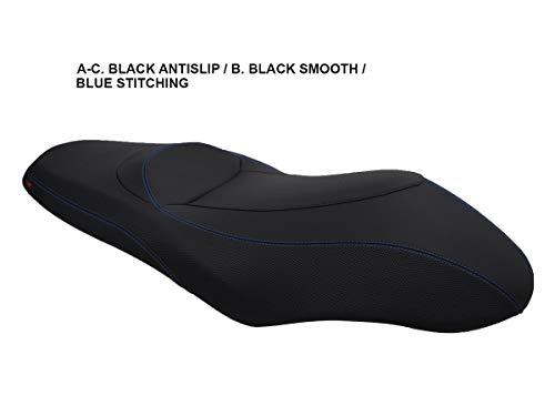 Sitzbankbezugnerung X-Max 125/250 '10-'14 Schwarz-Blaue Nähte