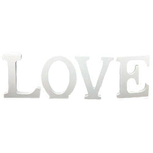 """Holzbuchstaben """"Love"""" für Hochzeit von Ultnice, Dekoration und Geschenk, weiß"""