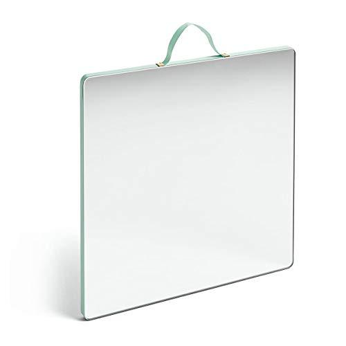 HAY Ruban Wandspiegel, MDF, Minzgrün, 1 x 26 x 26 cm