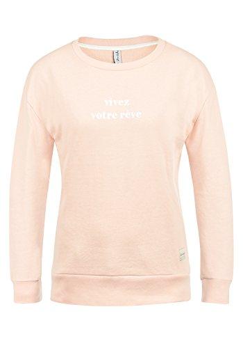 BlendShe Aurelie Damen Sweatshirt Pullover Sweater Mit Rundhalsausschnitt, Größe:M, Farbe:Cameo Rose (20262)