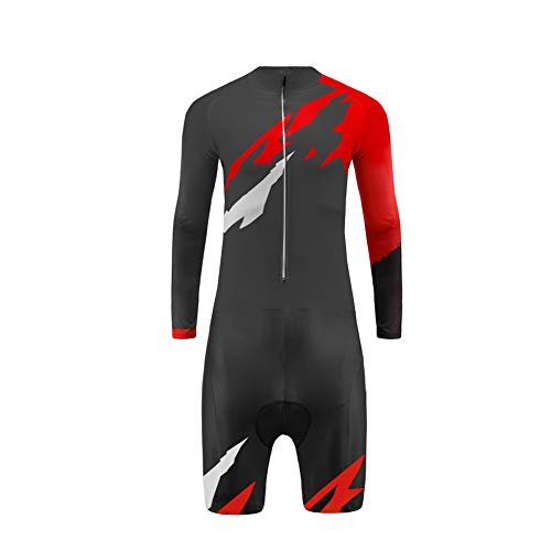 UGLY FROG Skinsuit Completo Ciclismo Abbigliamento Spring Set di Abbigliamento Ciclismo Maniche Lunghe Antivento Ciclismo Maglia + Gambe Corte 3D Pantalone
