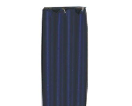Kerzen & Brennzubehör 8 Leuchterkerzen Ø 22 mm · 250 mm dunkelblau aus 100% Stearin Spitzkerzen blau