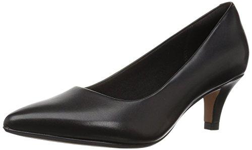 Clarks womens Linvale Jerica Pump, Black Leather, 7.5 US