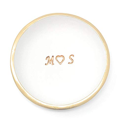 Personalized Engagement Jewelry Dish Holder with Initial Wedding and...