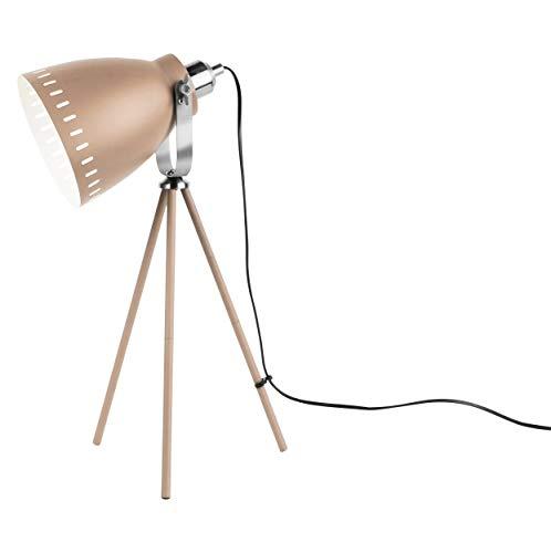 Present Time - Lampe de Table Abat Jour Beige et cuivre Mingle