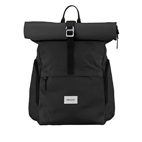 KRACHT Rucksack Damen & Herren – mit Laptopfach und wasserdicht – schwarz