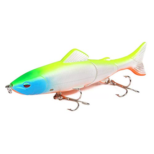 3 Segment Multi-Jointed Hard Fishing Lures 13cm/18g Artificial Baits Tackle Bass Whopper Popper Plopper Swing Tail Fishing Tackle