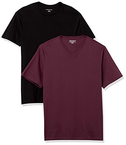 Amazon Essentials 6-Pack Crewneck Undershirts Hemd, Schwarz, L