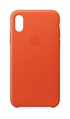 Apple Leather Case (for iPhone X) - Bright Orange