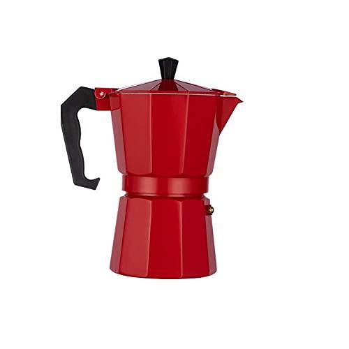 Cafetera Percoladora Cafetera De Aluminio De 50/150/300/600 Ml Cafetera Estufa Con Percolador Duradero Olla Con Percolador Herramienta Para Beber 300 Ml Rojo