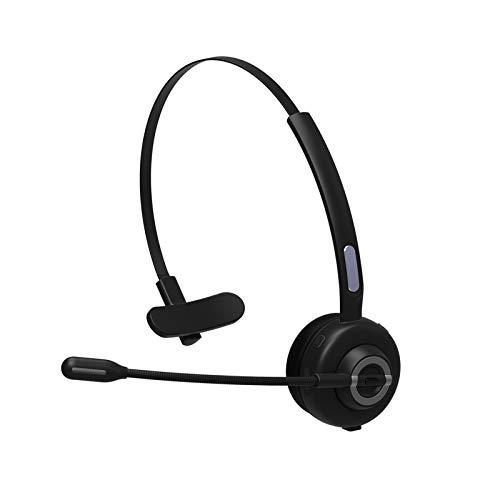 SLT Auriculares con Micrófono, Auricular Bluetooth Cascos PC con Cancelación de Ruido,Auriculares inalámbricos de Oficina, para Servicio Telefónico,Manos Libres,Skype,Call Centers,Truck Driver