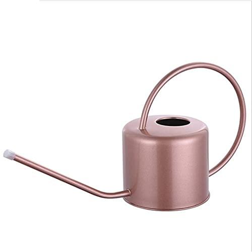 PPuujia Botella de agua para plantas de interior y exterior, con boca protectora larga, botella de acero inoxidable (color: rosa)