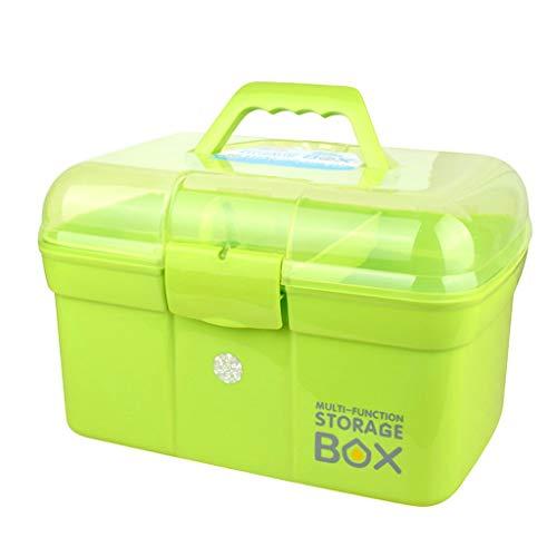 Jinxin juwelendoos huishouden kunststof medicijnbox draagbare koffer grote capaciteit opbergdoos grote EHBO-kit