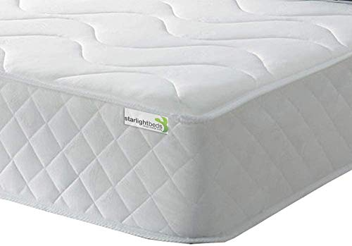 Starlight Beds Single Memory Foam Mattress. Single Mattress Double Mattress Contains Springs With a Layer Of Memory Foam (Shorty Mattress)