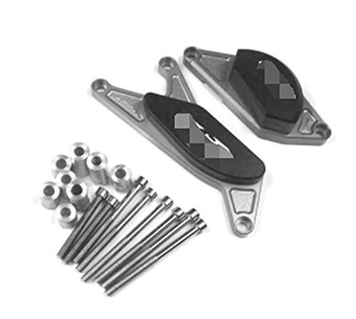 Ting Ting TTRS Store Ajuste para Suzuki GSR750 GSR600 GSR400 GSR 400 600 750 CNC Completo Motor Crash Pads Quadro Sliders Protector (Color : Silver)