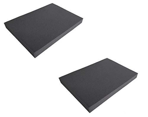2x Schaumstoffmatte Sitzkissen Schaumstoff Kissen Stuhl Polster Auflage Multifunktional 50x35x4,5cm (2 Matten)