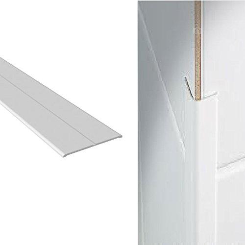 Ecke-Wand-Schutz-Schutz, weißer Kunststoff Flexi Winkel 15mm x 15mm x 2.5m