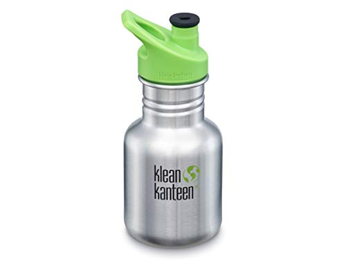 Klean Kanteen Kid Classic 355ml (w/Kid Sport Cap) Kids Water Bottle One Size Brushed Stainless