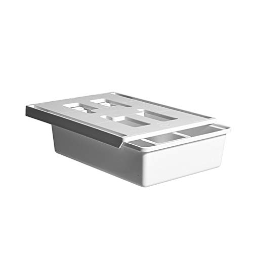 Jiaojie Punch-Free Bottom Storage Box Drawer Type Cosmetic Storage Box Under The Table Office Home Stationery Storage Box