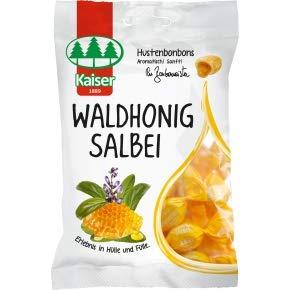 8 Beutel Kaiser Waldhonig Salbei a 90g Bonbons Hustenbonbons einzeln gewickelt