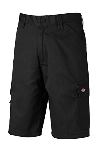 Dickies - Pantalones cortos de trabajo con bolsillos cargo, ideales para el verano., Negro , 50