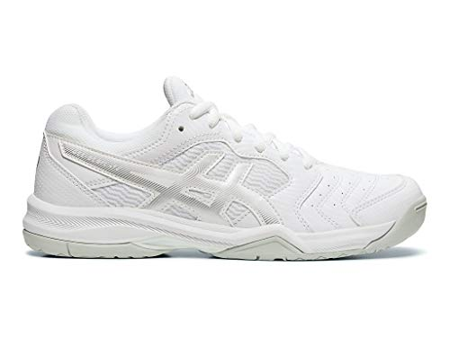 ASICS Women's Gel-Dedicate 6 Tennis Shoes, 8M, White/Silver