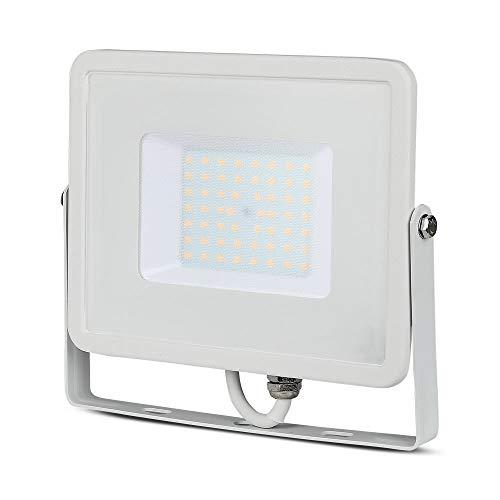 V-Tac Faro LED da esterno faretti IP65 50W con chip samsung faretto luce colore bianco naturale 4000K [Classe di efficienza energetica A+]