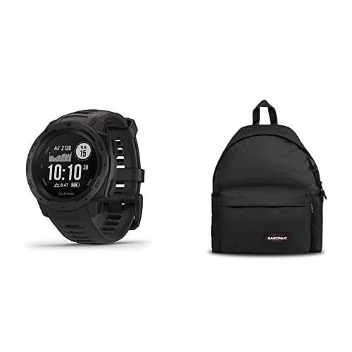 Garmin Instinct - Reloj Resistente con GPS, Grafito + Eastpak Padded Pak