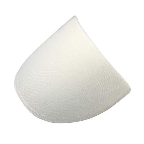 SUPVOX 20 Paar Schulterpolster Nähen Schwammpolster für Blazer T-Shirt Kleidung Weiß