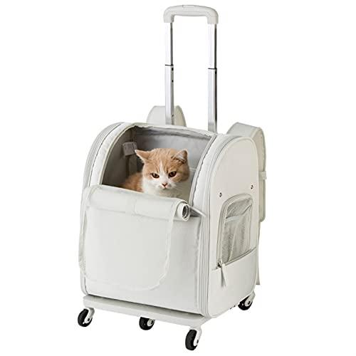 XINXINC - Mochila para mascotas, multifunción, doble respaldo, portátil, plegable, ventilada, apta para gatos, perros, conejos y animales pequeños, senderismo, camping, gris (color: gris claro)