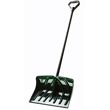 Suncast SC1350 18-Inch Snow Shovel/Pusher Combo with Wear Strip, Green