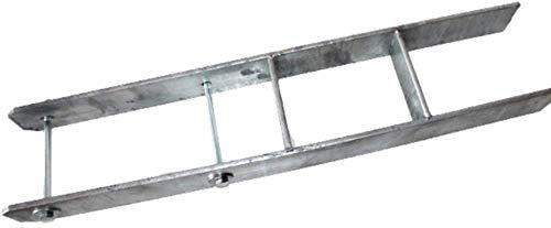 H-Anker 121 mm verzinkter Pfostenträger INKLUSIVE SCHRAUBEN 600 mm hoch 5 mm dick für Kanthölzer 12x12 cm