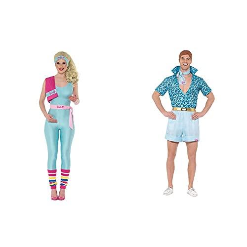 Smiffy's 42977M Disfraz de Barbie, talla M, color azul + 42979L Disfraz de Ken, Barbie, safari, talla grande, 106,68 111,76 cm, color azul