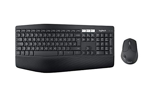 Logitech MK850 Kit Tastiera e Mouse Wireless Multidispositivo, Wireless e Bluetooth 2.4 GHz, 12 ‎Tasti Programmabili, Durata Batteria di 3 Anni, PC/Mac, Layout Italiano QWERTY, Nero