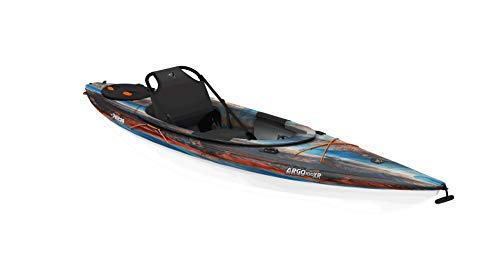 Pelican Recreational Sit-in Kayak - Argo 100XR Cosmos - White - Tin Grey -10-Foot Lightweight one Person Kayak - MDP10P100-00