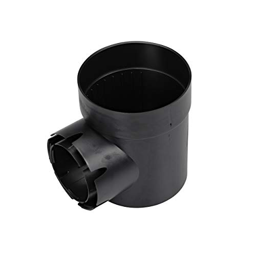 NDS Round Spee-D Catch Basin Drain With 1 Outlet, 6 in., Black