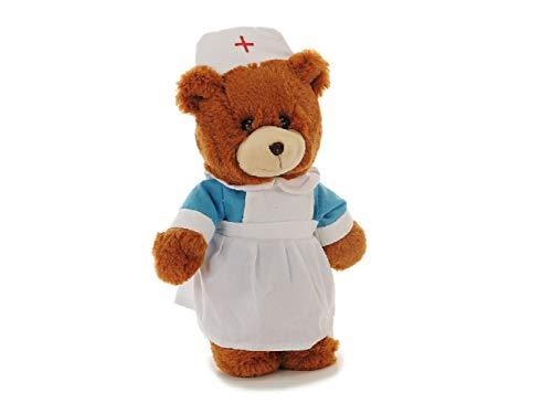 Bavaria Home Style Collection- Plüsch Bär - Plüschtier - Stofftier - Kuscheltier - ist Dieser süße Teddy - EIN süßer und absolut schmuseweicher Kuschelfreund - Krankenschwester