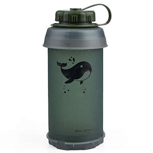 NBSXR 750ML Draagbare Outdoor Inklapbare Sport TPU Zacht Water Fles, BPA en PVC Gratis, voor Outdoor Camping Wandelen Rugzak Reizen