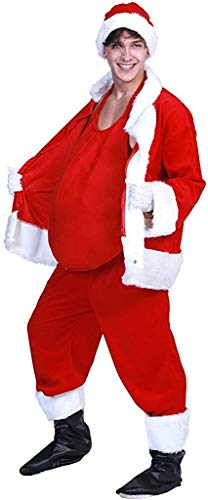 MNNE Santa Claus performance accessories fake belly, Christmas stage performance prop dress. Christmas party santa cosplay props fake belly