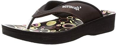 AEROWALK Women's Brown Fashion Sandal