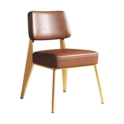 C-J-Xin Casa Dining Chair leer Nordic stijl metalen bureaustoel kantoor restaurant bar stool lounge stoel artificiale fijne kruk