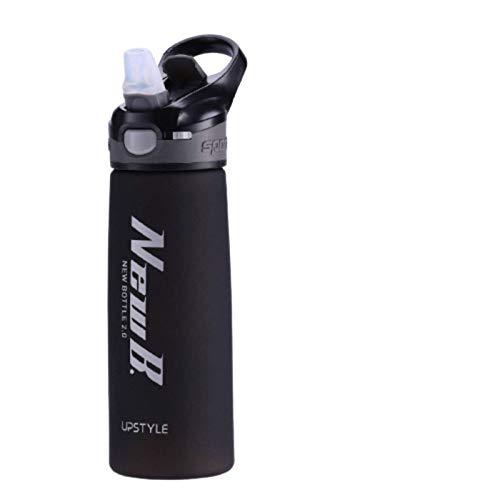 N\C 750/600 ML, vajilla portátil para Viajes al Aire Libre, Tritan, plástico, proteína de suero en Polvo, Botella agitadora Deportiva para Botellas de Agua con Pajita