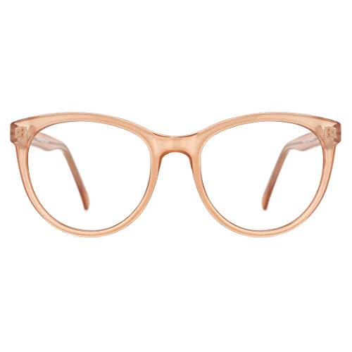TIJN Blaulichtfilter Brillen Übergröße Brillen ohne sehstärke Computer Brillen Gaming Brillen für PC Handy Metallrahmen anti Schädlichen Strahl Damen Herren