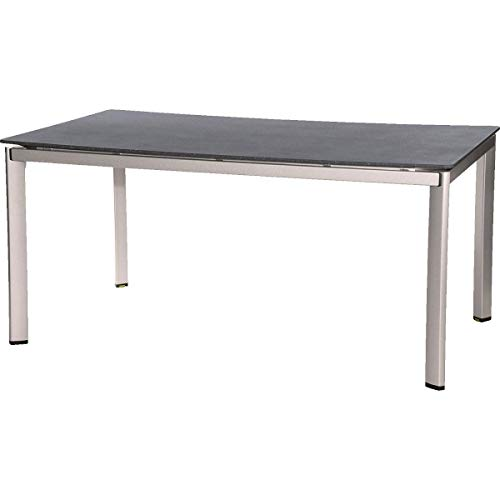 MWH Alutapo Tisch, Aluminium, silber/grau, 160 x 95 x 74 cm, 879690
