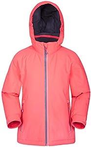 Mountain Warehouse Chaqueta de esquí Slope Style para niños - Costuras Selladas, Transpirable, puños Interiores y Cremalleras Impermeables - para esquí y Snowboard Rosa 9-10 Años
