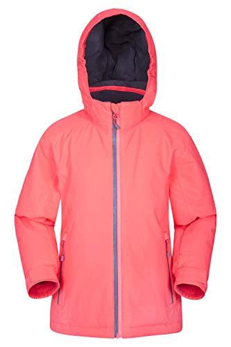 Mountain Warehouse Slope Style Kids Waterproof Ski Jacket Taped Seams Breathable Winter Coat Pink 9 10 Years