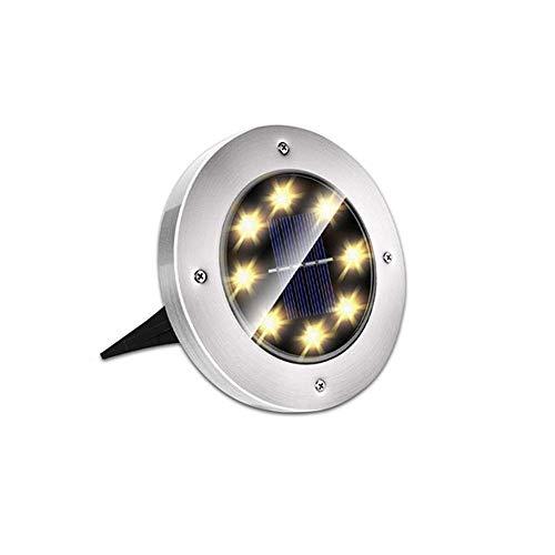 VanFty Luz solar al aire libre Luz de tierra de jardín, LED Solar Luz de tierra al aire libre Luz de tierra solar IP65 impermeable LED al aire libre LED Cuarto de césped Patio Garden Solar Luz de call