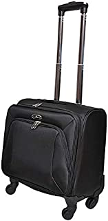 track Luggage Trolley Bag for Unisex - Black