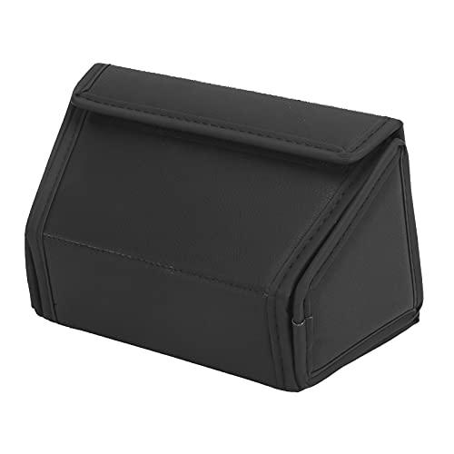 FOLOSAFENAR Caja De Almacenamiento para El Asiento Trasero, Diseño De Gancho Organizador De La Consola Central Trasera Diseño De Cierre De Bucle con Diseño Negro Puro para Model Y